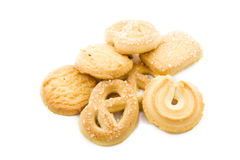 Pile of cookies Royalty Free Stock Photo