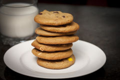 Pile of cookies Royalty Free Stock Images
