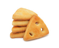 Pile of cookies, isolated Stock Images