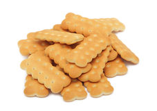 Pile of cookies, isolated Stock Image