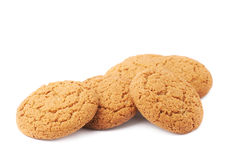 Pile of cookies isolated over the white background Royalty Free Stock Photo