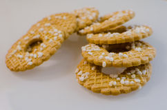 A pile of cookies with sprinkles Royalty Free Stock Photos