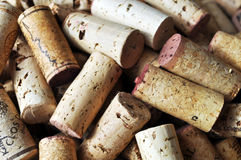 Pile of corks without brand names royalty free stock photo