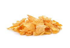 Pile of corn flakes Royalty Free Stock Photo