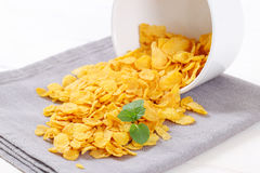 Pile of corn flakes Royalty Free Stock Image