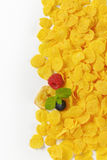 Pile of corn flakes Royalty Free Stock Images