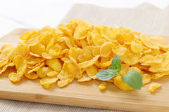 Pile of corn flakes Royalty Free Stock Photography
