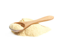Pile of corn flour isolated Royalty Free Stock Images