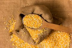 Pile of Corn Grits Royalty Free Stock Photos