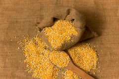 Pile of Corn Grits Royalty Free Stock Images