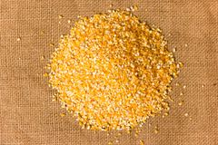 Pile of Corn Grits Stock Photography