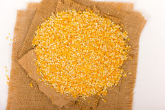 Pile of Corn Grits Stock Images