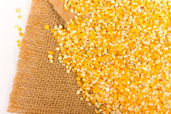 Pile of Corn Grits Stock Image