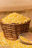 Pile of Corn Grits Royalty Free Stock Image