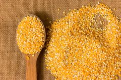 Pile of Corn Grits Royalty Free Stock Photo
