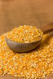 Pile of Corn Grits Royalty Free Stock Photography
