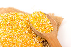 Pile of Corn Grits Stock Photo