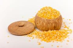 Pile of Corn Grits Stock Photos