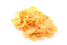 Pile of cornflakes Royalty Free Stock Photos