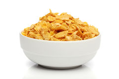 Pile of cornflakes on a bowl Royalty Free Stock Image
