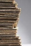 Pile of corrugated cardboard close-up Stock Image