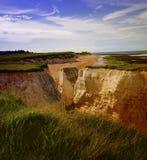 Pile costiere giganti della roccia alla baia di botanica fotografia stock