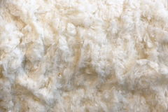 A pile of cotton. Picture of a pile of cotton as white background Royalty Free Stock Photos