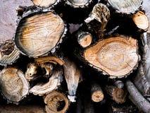Pile coup?e d'identifiez-vous de bois de chauffage Fond de nature Pr?paration du bois Grande pile de bois coup? frais sur le fond photo libre de droits