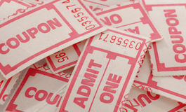 Pile of coupons Stock Photography