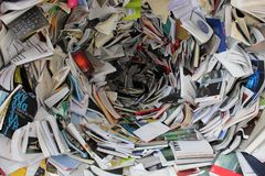 Pile of Covered Books Stock Photo