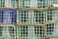 Pile of crab baskets Royalty Free Stock Photos