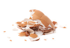 Pile of cracked egg shells  Stock Images