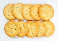 A Pile Of Crackers Royalty Free Stock Images