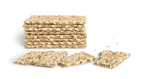 Pile Crackers and Royalty Free Stock Photography