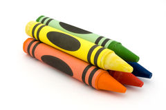 Pile of crayons Stock Image