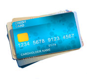 Pile  of credit cards Royalty Free Stock Photos