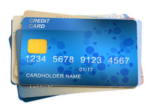 Pile  of credit cards Royalty Free Stock Photo
