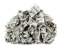 Crimped Pile of Cash Stock Photo