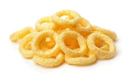Pile of crispy onion rings Stock Photography