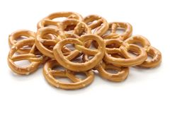 A pile of crispy pretzels Royalty Free Stock Images