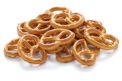 A pile of crispy pretzels Stock Photos