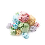 Pile of crumpled paper balls isolated Stock Photo