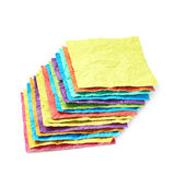 Pile of crumpled paper sheets isolated Stock Photography