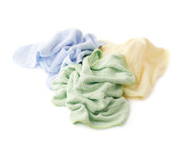 Pile of crumpled rags over white isolated background Royalty Free Stock Photos