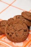 Pile of crunchy chocolate cookies Stock Photos