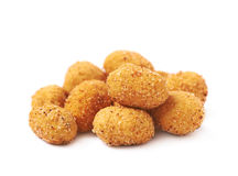 Pile of crunchy coated nuts isolated Royalty Free Stock Images