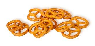 Pile crunchy pretzels with salt Royalty Free Stock Images
