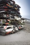 Pile Of Crushed Cars Stock Photos