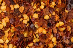 Pile of a crushed red pepper Stock Images