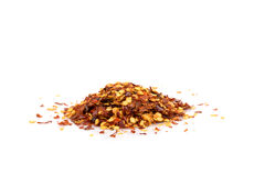 Pile of a crushed red pepper Stock Photography